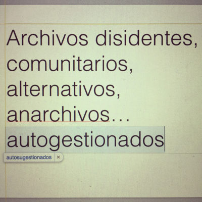 Archives of the Commons 2. The Anomic Archive
